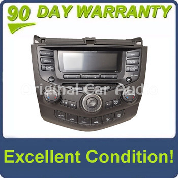 2003 2004 2005 2006 2007 Honda Accord Radio 6 Disc CD Changer Player Aux 7BL0 FACEPLATE ONLY