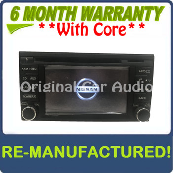 Remanufactured 2013 - 2019 Nissan Sentra OEM Touch Screen Navigation Multi Media Radio Receiver