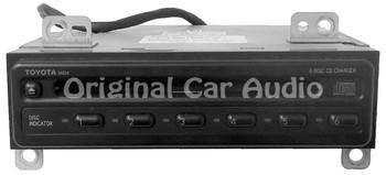 1990 - 1999 TOYOTA 4Runner Avalon Camry Celica Mr2 Sequoia Solara Sienna Tacoma Tundra Rav4 T100 OEM Radio 6 CD Disc Player 74834, L4210, 74845 (new mech)