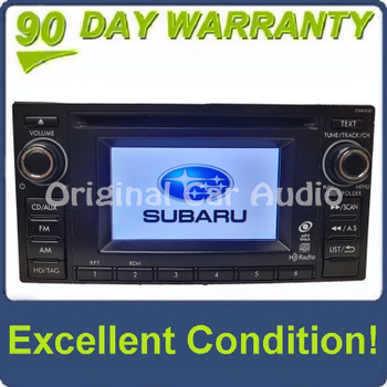 2012 - 2014 Subaru Crosstrek Impreza OEM AM FM HD Radio Single CD Player CM631UD