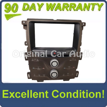 2013 Ford Edge OEM AM FM Dual A/C Climate Radio Control Bezel ONLY