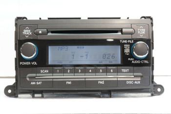 2011-2014 Toyota Sienna AM FM CD WMA Mp3 Radio Receiver 86120-08230 OEM