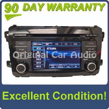 2013 - 2015 Mazda CX-9 OEM AM FM Single CD 6 Speaker Navigation HD Radio