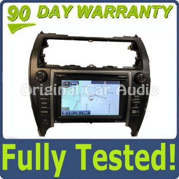 2012 - 2014 Toyota Camry Touch Screen Navigation GPS JBL HD Radio CD Player 100202 BLEMISHED