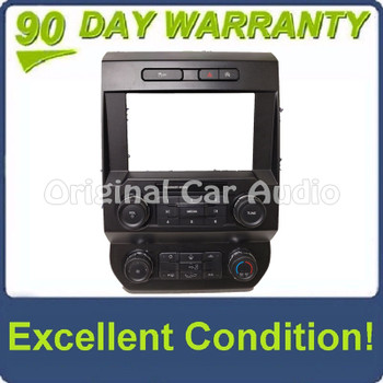 """2019 - 2020 Ford F150 OEM 8"""" Touch Screen Radio Control Climate Control W/O Heated Seats and CD Slot Bezel ONLY"""