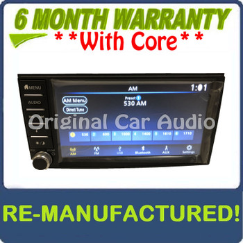 Remanufactured 2018 - 2019 Nissan Frontier OEM Touch Screen AM FM Bluetooth AUX Radio Receiver