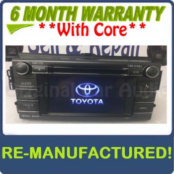 Reman 2013 2014 2015 Toyota Rav4 OEM AM FM Entune Touch Screen Bluetooth Unit 100072