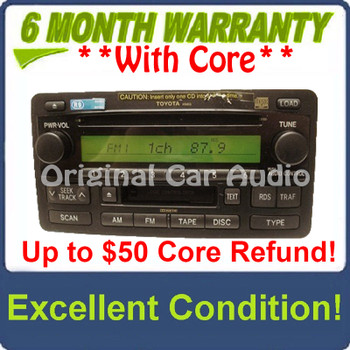 Toyota Tundra JBL Radio Tape 6 CD Changer 86120-0C090 2003 - 2004