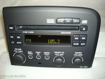 05 06 07 08 Volvo HU-850 S80 Radio 6 Disc CD Changer Player OEM RDS 2005 2006 30737705-1