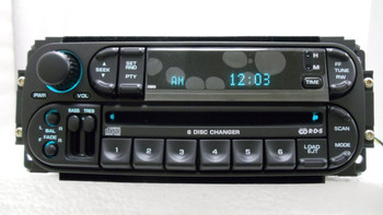 New 2002 - 2007 Chrysler Jeep Dodge OEM AM FM Radio 6 CD Changer RBQ