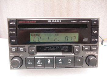 1995 - 2004 SUBARU Legacy Forester Impreza Radio Tape 6 Disc CD Changer Player