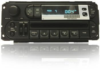 NEW 1998 - 2002 Chrysler Dodge Jeep OEM AM FM Radio CD Player Receiver RBK P56038567AH, P04858585AB, P04858585AC, P04858585AD, P04858585AE, P04858585AF, P056038567, P056038567AF