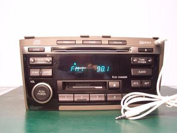 INFINITI I30 I35 Radio Tape Player 6CD Changer w/AUX add onBOSE 2000 2001 2003 2004 BLACK