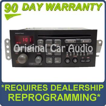 1996 - 2002 GMC Pontiac OEM AM FM Radio CD Player Stereo Receiver U1C