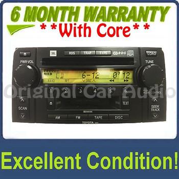 Toyota 4Runner JBL Radio Tape Player 6 Disc CD Changer 86120-35200 03 04 05 To56827