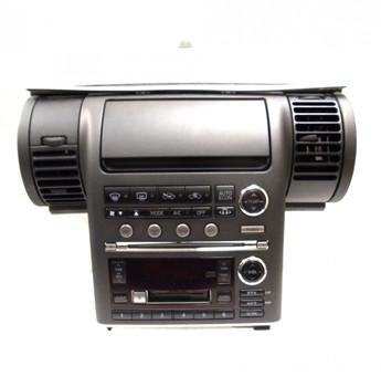 2003 - 2004 INFINITI G35 G-35 OEM Radio 6 Disc Changer CD Tape Player BOSE AC Temp Controls and Bezel BLACK