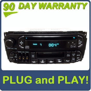 1998 - 2003 Jeep Dodge Chrysler OEM AM FM Radio Tape CD Player Receiver RAZ