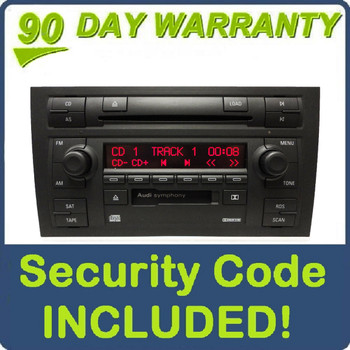 06 07 08 AUDI A4 Symphony II Radio Stereo 6 Disc Changer CD Tape Player 8E0035195H 2006 035-195-H