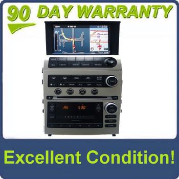 2005 - 2007 INFINITI G35 G35 Radio BOSE Stereo Navigation GPS Screen 6 Disc Changer MP3 CD Player