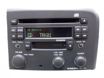 VOLVO S80 S-80 Radio Stereo CD Tape Player Hu-611 Light Gray 1999 2000 2001 2002 2003