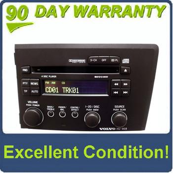 01 02 03 04 05 VOLVO S60 V70 S-60 V-70 Radio Stereo 4 Disc Changer CD Player HU-803 HU803 2001 2002 2003 2004 2005