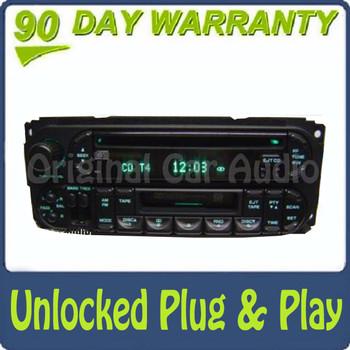 2002 - 2007 Chrysler Jeep Dodge OEM AM FM  Radio Tape Cassette CD Player RAZ RBP RBU