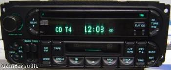 2002 - 2007 Chrysler Jeep Dodge OEM AM FM Radio Tape Cassette CD Player Receiver RBU