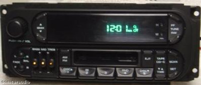 02-04 Chrysler Jeep Dodge Radio and  Tape Player