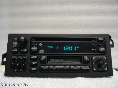 1996 - 2000 Chrysler Jeep Dodge Sebring  OEM AM FM Radio CD Player Receiver