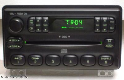 2001 - 2005 Ford Lincoln Mercury OEM AM FM Radio Single CD Player Receiver