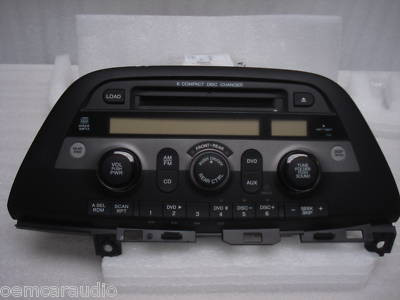 08 09 2010 Honda ODYSSEY Radio MP3 DVD AUX 6 DISC CD PLAYER 1XU5 Ho1XU5