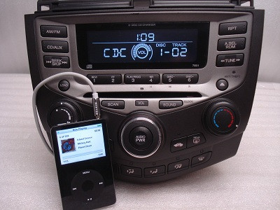 AUXILIARY ADAPTER FOR AN IPOD FOR  ALL 2003 - 2007 HONDA Accord Single CD  Players and 6 CD Changers