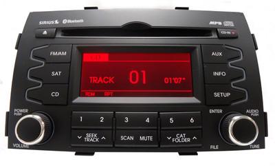 2010 2011 2012 KIA Sorento OEM Radio Stereo Receiver Satellite Bluetooth MP3 CD Player 96140-1U201, 96140-1U200