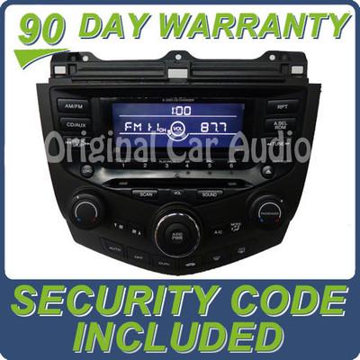 2003 Honda Accord Radio and 6 CD Changer 03 7BK0 7BKO Sedan EX-L Dual Climate Controls