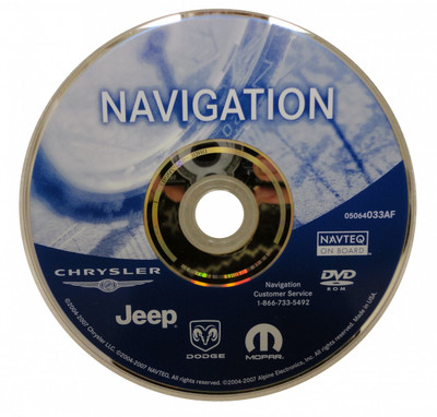 2008 Chrysler Jeep Dodge RB1 Navigation Disc 05064033AF