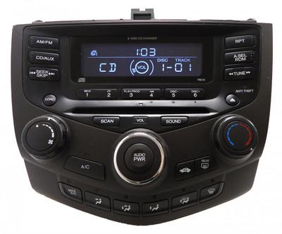 Honda Accord Radio AUX and 6  CD Changer LX EX 7BC0  39175-SDA-A110-M2 2003 2004 2005 2006 2007