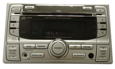 2005 HONDA Civic EX Special Edition Radio Stereo 6 Disc Changer MP3 CD Player iPod Auxiliary Input OEM 1XC7