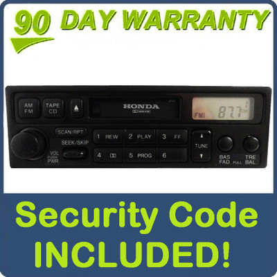 1998 1999 2000 2001 2002 Honda Accord Radio and Tape Player