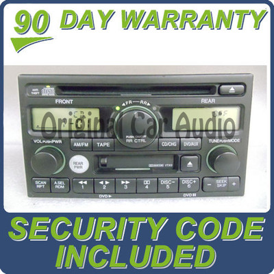 02 03 04 Honda Odyssey CD Player with DVD Option