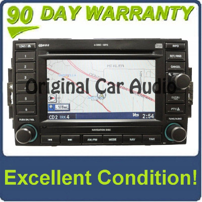 2005 - 2009 Dodge Chysler Jeep Navigation Radio 6 Disc CD Changer OEM