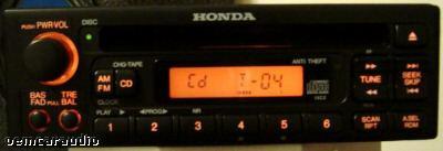 Honda CRV (CR-V) and Prelude Radio and CD Player 1999 - 2004