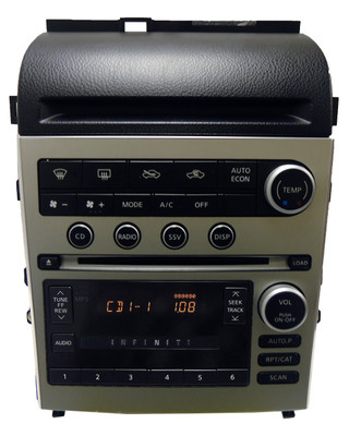 05 06 Infiniti G35 G 35 Radio MP3 MP 3 Stereo 6 Disc CD Changer Player Climate Controls 2005 2006 BLACK