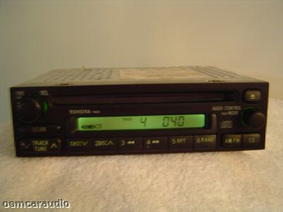 OEM TOYOTA Tacoma T100 Corolla 4Runner Rav4 Radio Stereo AM FM CD Player OEM A51801