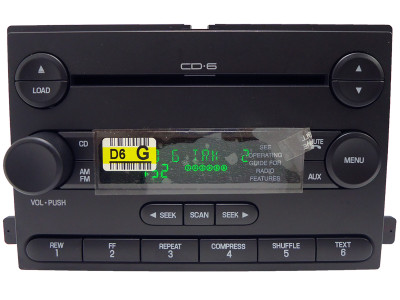 FORD Freestar Focus F250 F350 MERCURY Monterey Radio Stereo and 6 CD Player 6F2T-18C815-GA