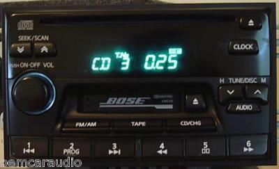 Nissan Pathfinder Maxima Infiniti I30 QX4 J30 BOSE Radio