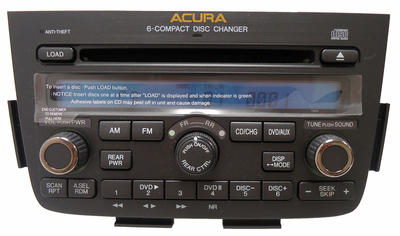 05 06 Acura MDX Radio DVD Player 6 CD Changer Stereo 1XF9