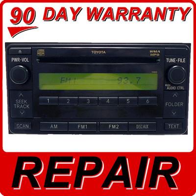 Repair Service Toyota Scion Audio AM FM Radio CD Player Fix