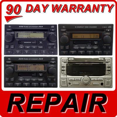 REPAIR 98 99 2000 01 02 Honda Accord CRV Odyssey Radio XM TAPE and 6 Disc CD Changer