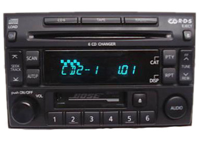 NISSAN Pathfinder SE LE Maxima BOSE Radio 6 Disc Changer Tape Cassette CD Player PN-2439N 1995 1996 1997 1998 1999 2000 2001 2002 2003 2004