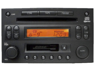 Nissan 350Z BOSE Radio Tape Stereo 6 Disc Changer MP3 CD Player CR160  PP-2514L-A